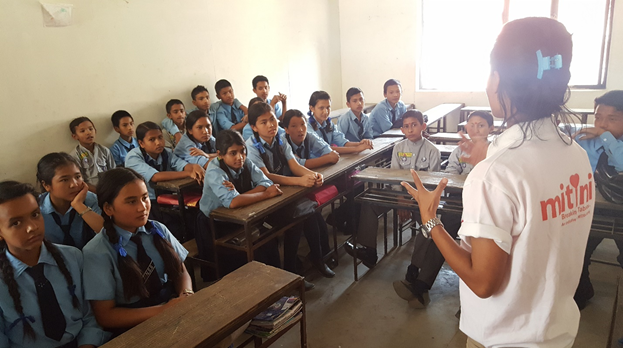 Students obtaining information about menstruation