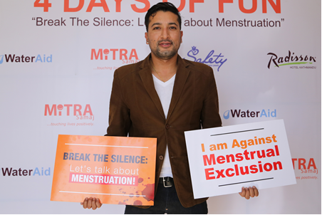 Popular Radio Presenter and Actor Raymon Das Shrestha at the Press Meet of the Campaign
