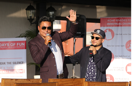 Famous Comedy Actor Sandeep Chettri Performing Stand Up Comedy with Singer Dharmendra Sewan